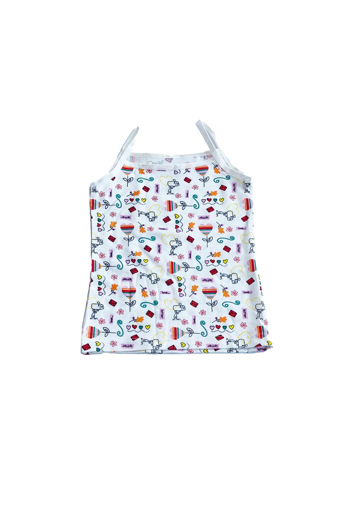 Kız Çocuk Renkli 6 Lı Paket Iç Giyim Takımı Ip Askılı Atlet Külot 332331-e3
