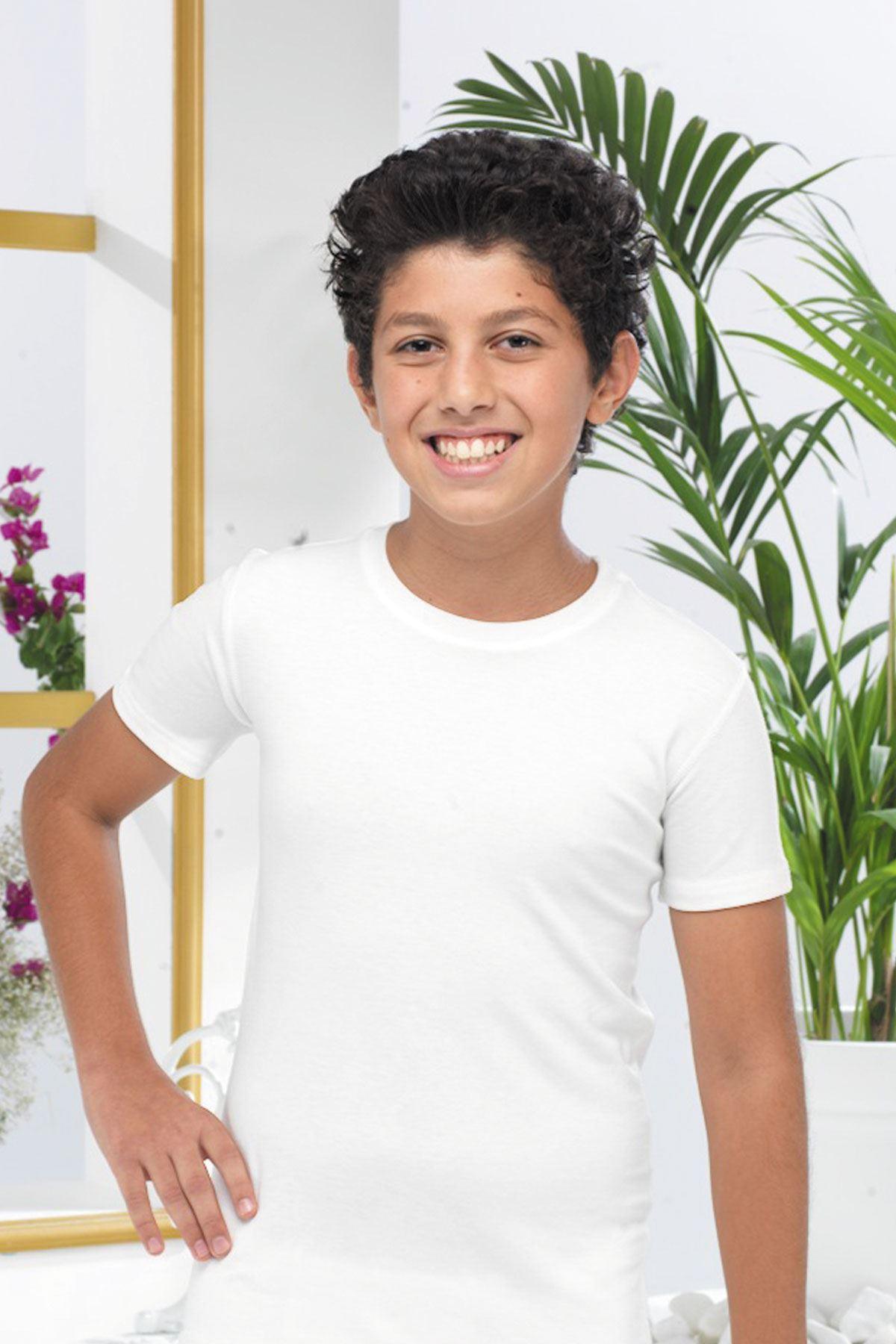 Erkek Çocuk Beyaz Modal Body 319