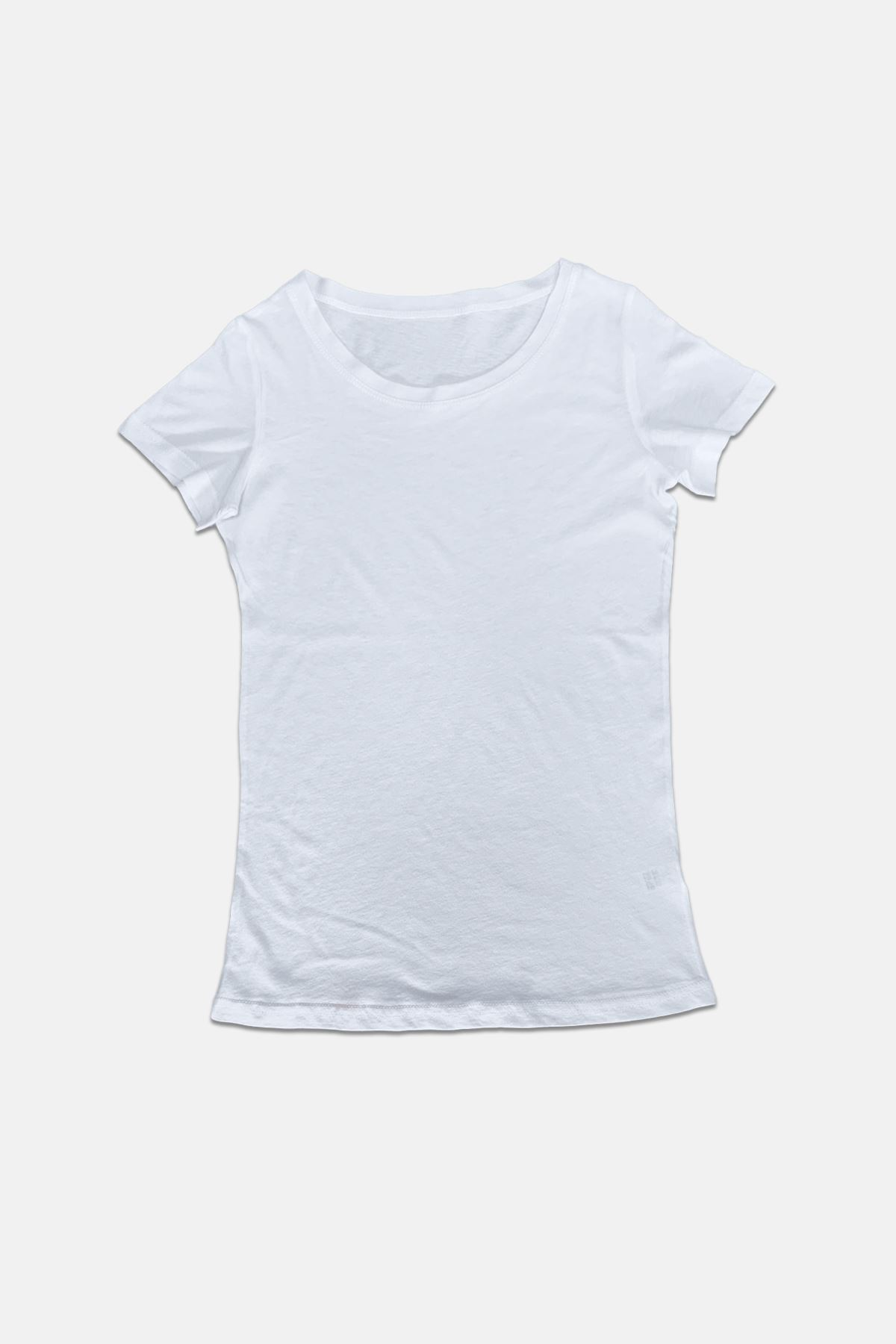 Malabadi Kadın Beyaz Açık Yaka Yaz Serinliği Tişört 172