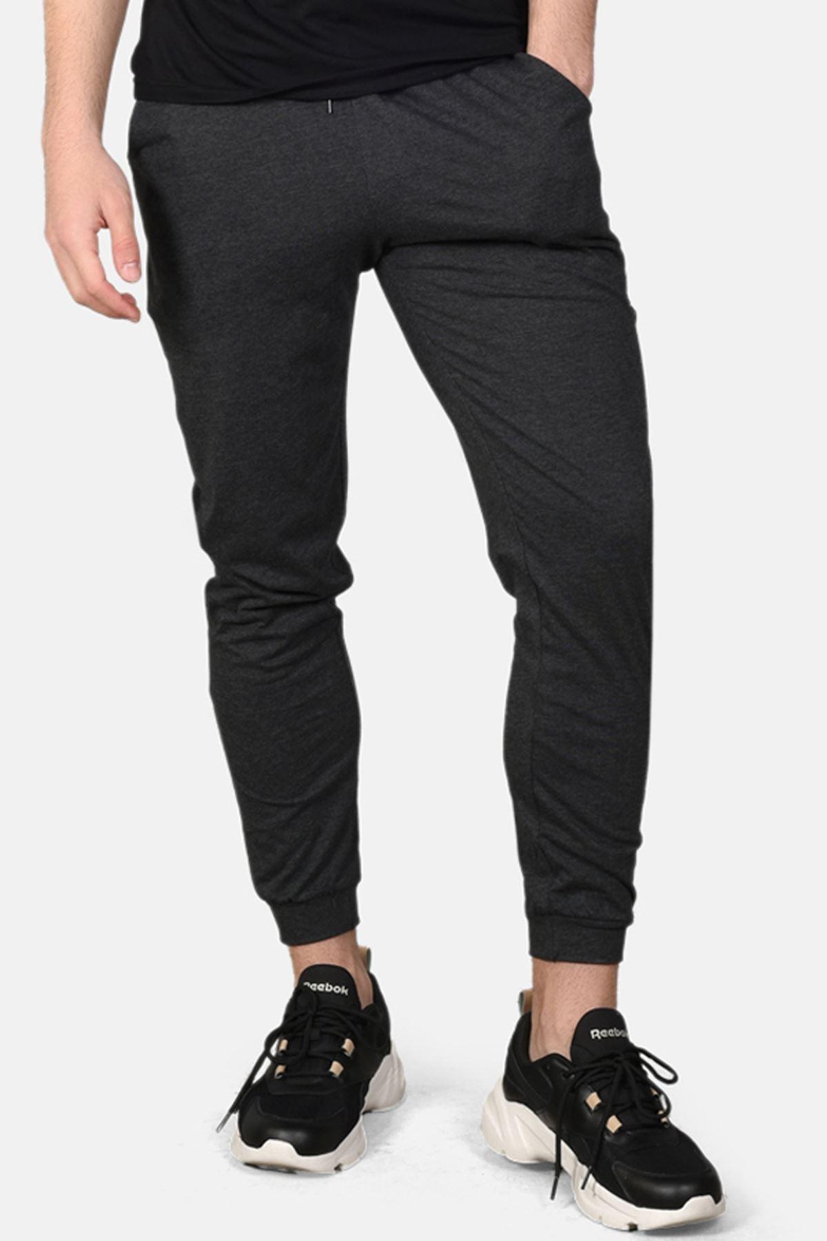 Malabadi Erkek Antrasit Alt Siyah Üst Yuvarlak Yaka Yazlık Pijama Takımı M564